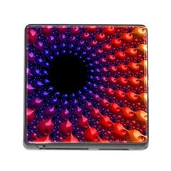 Fractal Mathematics Abstract Memory Card Reader (square)