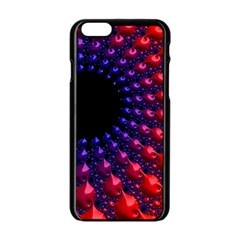 Fractal Mathematics Abstract Apple Iphone 6/6s Black Enamel Case