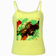 Wallpaper Background Watercolors Yellow Spaghetti Tank