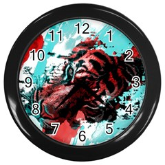 Wallpaper Background Watercolors Wall Clocks (black)