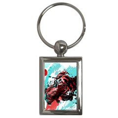 Wallpaper Background Watercolors Key Chains (rectangle)