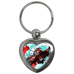 Wallpaper Background Watercolors Key Chains (heart)