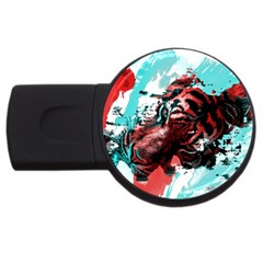 Wallpaper Background Watercolors Usb Flash Drive Round (2 Gb)