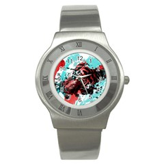 Wallpaper Background Watercolors Stainless Steel Watch