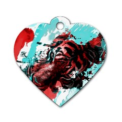 Wallpaper Background Watercolors Dog Tag Heart (One Side)