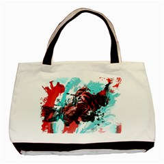 Wallpaper Background Watercolors Basic Tote Bag (two Sides)