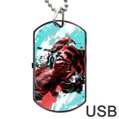 Wallpaper Background Watercolors Dog Tag Usb Flash (two Sides)