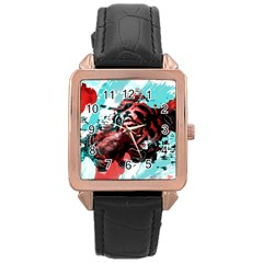Wallpaper Background Watercolors Rose Gold Leather Watch