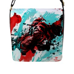 Wallpaper Background Watercolors Flap Messenger Bag (l)
