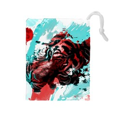 Wallpaper Background Watercolors Drawstring Pouches (large)