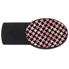 Houndstooth2 Black Marble & Red & White Marble Usb Flash Drive Oval (2 Gb)