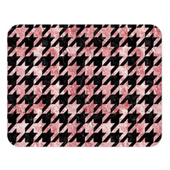 Houndstooth1 Black Marble & Red & White Marble Double Sided Flano Blanket (large)