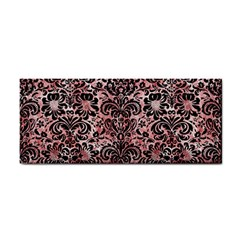 Damask2 Black Marble & Red & White Marble (r) Hand Towel