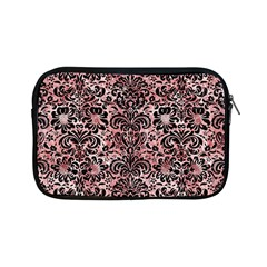 Damask2 Black Marble & Red & White Marble (r) Apple Ipad Mini Zipper Case