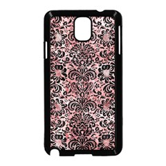 Damask2 Black Marble & Red & White Marble (r) Samsung Galaxy Note 3 Neo Hardshell Case (black)
