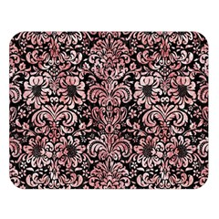 Damask2 Black Marble & Red & White Marble Double Sided Flano Blanket (large)