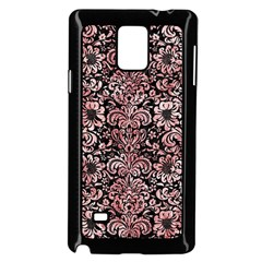 Damask2 Black Marble & Red & White Marble Samsung Galaxy Note 4 Case (black)