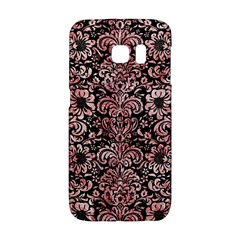 Damask2 Black Marble & Red & White Marble Samsung Galaxy S6 Edge Hardshell Case
