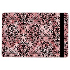 Damask1 Black Marble & Red & White Marble (r) Apple Ipad Air 2 Flip Case