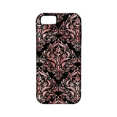 Damask1 Black Marble & Red & White Marble Apple Iphone 5 Classic Hardshell Case (pc+silicone)