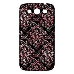 Damask1 Black Marble & Red & White Marble Samsung Galaxy Mega 5 8 I9152 Hardshell Case