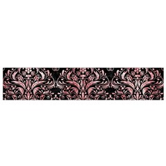 Damask1 Black Marble & Red & White Marble Flano Scarf (small)