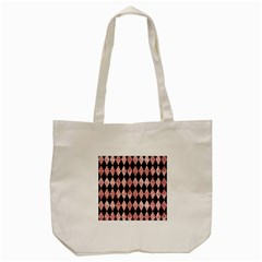 Diamond1 Black Marble & Red & White Marble Tote Bag (cream)