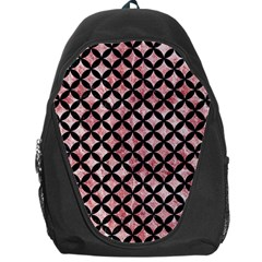 Circles3 Black Marble & Red & White Marble (r) Backpack Bag