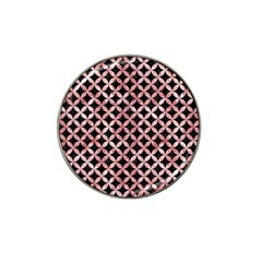 Circles3 Black Marble & Red & White Marble Hat Clip Ball Marker (4 Pack)