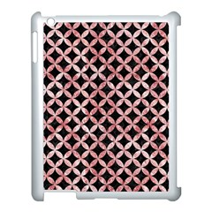 Circles3 Black Marble & Red & White Marble Apple Ipad 3/4 Case (white)