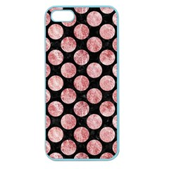 Circles2 Black Marble & Red & White Marble Apple Seamless Iphone 5 Case (color)