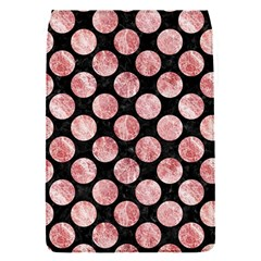 Circles2 Black Marble & Red & White Marble Removable Flap Cover (s)
