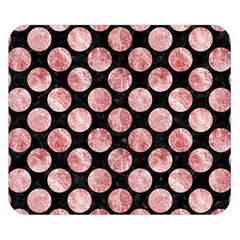 Circles2 Black Marble & Red & White Marble Double Sided Flano Blanket (small)