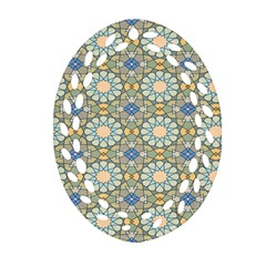 Arabesque Flower Star Ornament (oval Filigree)