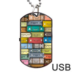 Colored Suitcases Dog Tag Usb Flash (one Side)