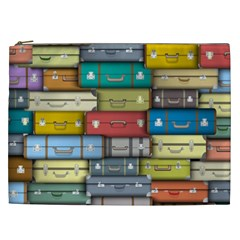 Colored Suitcases Cosmetic Bag (xxl)