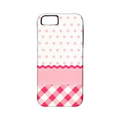 Cute Cartoon Decorative Pink Apple Iphone 5 Classic Hardshell Case (pc+silicone)