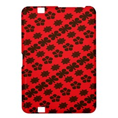 Diogonal Flower Red Kindle Fire Hd 8 9