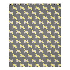 Hearts And Yellow Crossed Washi Tileable Gray Shower Curtain 60  X 72  (medium)