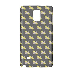 Hearts And Yellow Crossed Washi Tileable Gray Samsung Galaxy Note 4 Hardshell Case