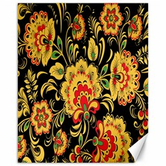 Flower Yellow Green Red Canvas 16  X 20
