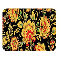 Flower Yellow Green Red Double Sided Flano Blanket (large)