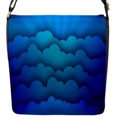 Blue Sky Jpeg Flap Messenger Bag (s)