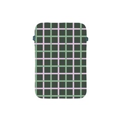 Pink And Green Tiles On Dark Green Apple Ipad Mini Protective Soft Cases