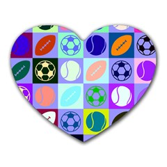Sports Ball Heart Mousepads
