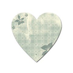 Shadow Flower Gray Heart Magnet
