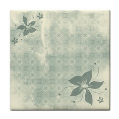 Shadow Flower Gray Face Towel