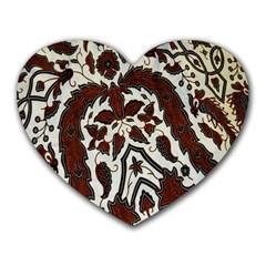 Yogyakarta Batik Heart Mousepads
