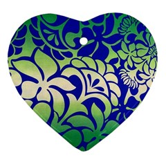 Batik Fabric Flower Ornament (heart)