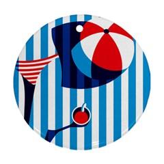 Blue Sea Ornament (round)